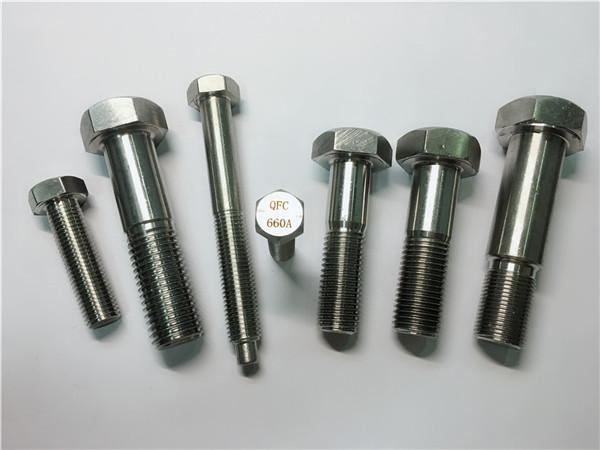 გამოცდილი hex cap screw A453 gr.660 din 1.4980 დისკები